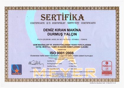 ISO 9001-2008 BELGESİ